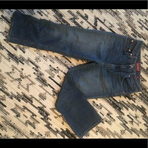 Lucky brand high rise cropped flare jeans